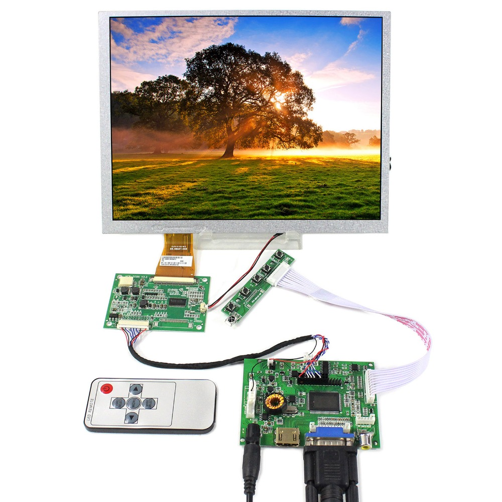 HDMI+VGA+2AV+Audio LCD Controller Board With 10.4inch 800X600 A104SN03-V1 LCD Screen hdmi vga audio lcd controller board with 11 6inch 1920x1080 n116hse ips lcd screen