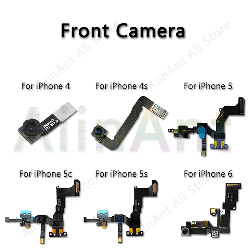 100% Genuine For iPhone 4 4S 5 5S 5C Front Facing Camera Right Proximity Sensor Flex Cable Assembly For iPhone 6 6s Plus
