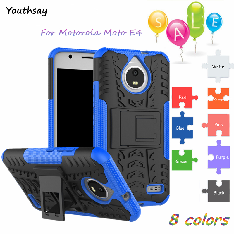 For Cover Moto <font><b>E4</b></font> Case Shockproof Hard PC Armor Rubber Silicone Phone Case For Moto <font><b>E4</b></font> Cover For <font><b>Motorola</b></font> Moto <font><b>E4</b></font> <font><b>XT1762</b></font> XT1772 image