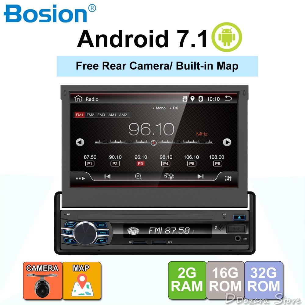 Один 1 Din Android 6,0 4 ядра универсальный автомобильный DVD gps Мультимедиа 7 дюймов емкостный кассетный плеер Wi Fi Bluetooth