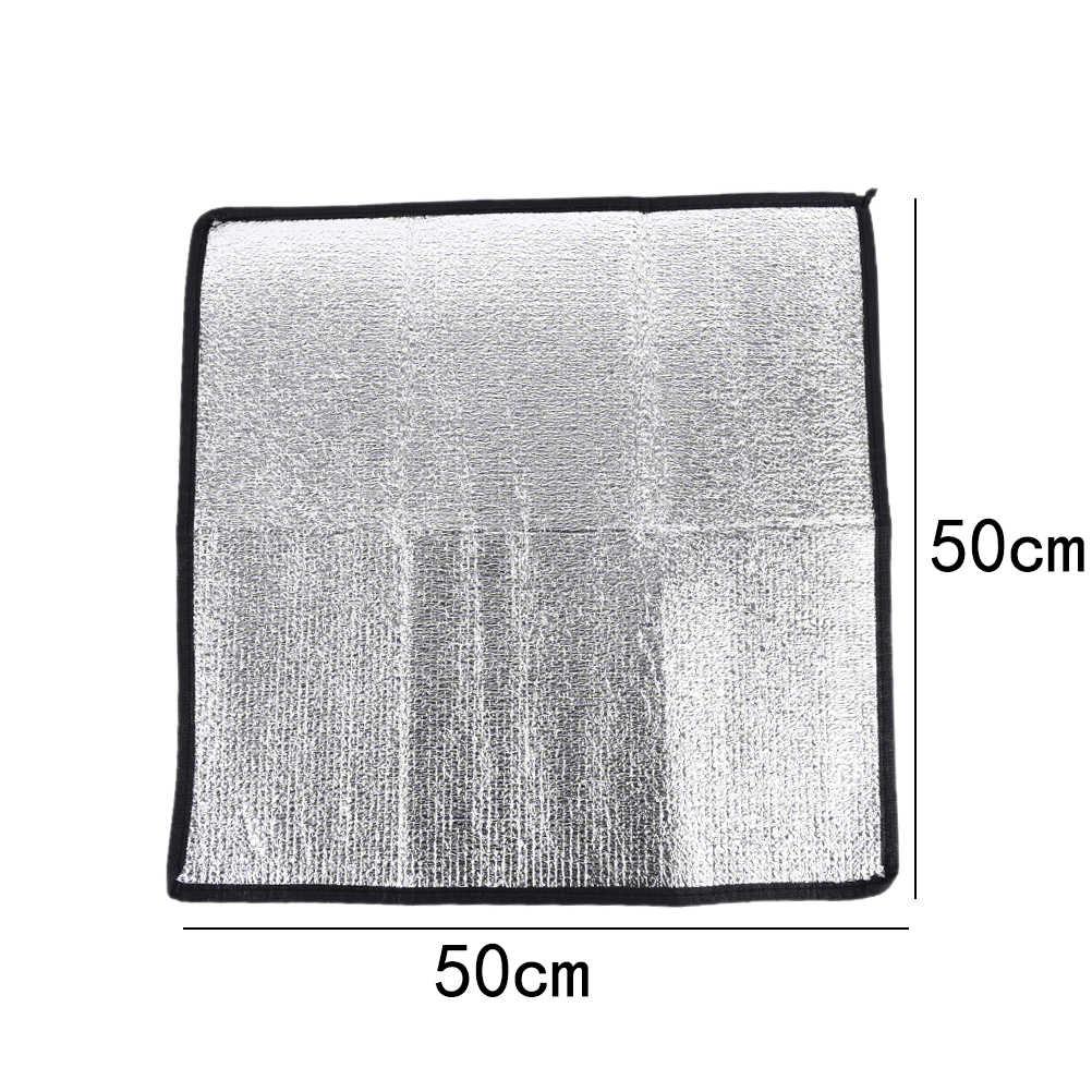 New Waterproof Aluminum Foil EVA Camping Mat Foldable Folding Sleeping Picnic Beach Mattress Outdoor Mat Pad 50*50*0.25cm