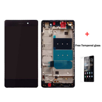 100 Original For Huawei P8 Lite LCD Display With Touch Screen Digitizer Assembly With Frame Black