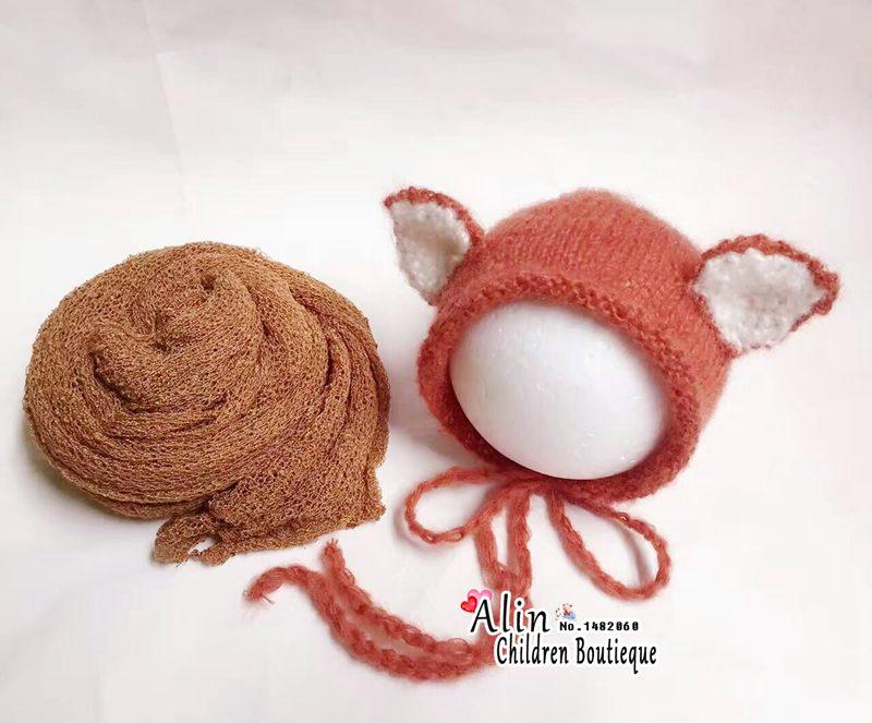 Fox baby häkeln hut neugeborenen motorhaube, tier muster baby cap ...