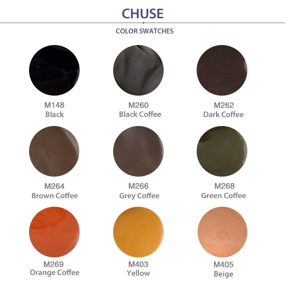CHUSE Makijaż permanentny Pigment Pro Brązowy Kawa Zestaw farb do - Tatuaż i Body Art - Zdjęcie 4