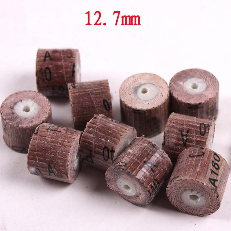 10 stks 12.7mm schuurpapier slijpschijf mini boor dremel gereedschap - Schurende gereedschappen - Foto 3
