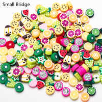 10mm Bunte Fimo Polymer Clay Perlen Für Armbänder, Die Schmuck Diy Zubehör Perles Verschiedene Druck Obst Werkzeug Perlen C300
