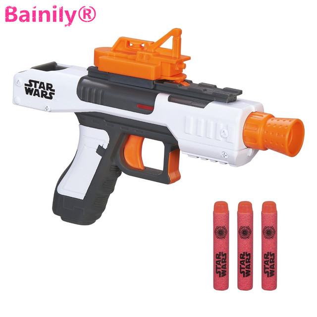 [Bainily] new star wars acción juguetes eva bala suave pistola nerf pistola de juguete nerf pistola disparar ráfagas starwars niños de juguete de regalo