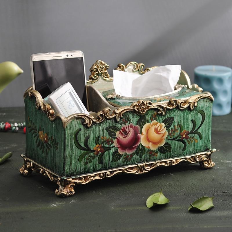 Коробка для полотенец кантри коробка для салфеток украшения для домашней обстановки роскоши Европейский стиль древнего бумажные коробки