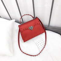 2019 Fashion Women Silicone Candy Handbags Fashion Rivet Small Shoulder Messenger Bag Jelly Crossbody Bags High Quality PVC