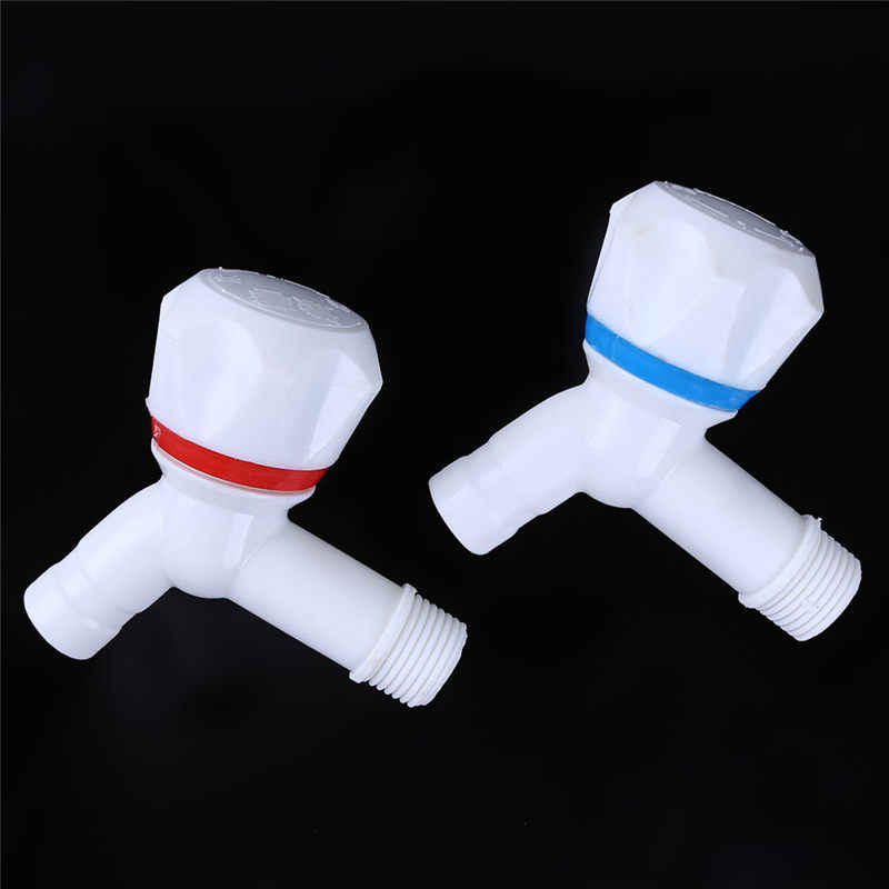 White PP Plastic Washing Machine Tap Fast On Faucet Bibcock Laundry Mop Pool Tap White Plastic Kitchen Faucet