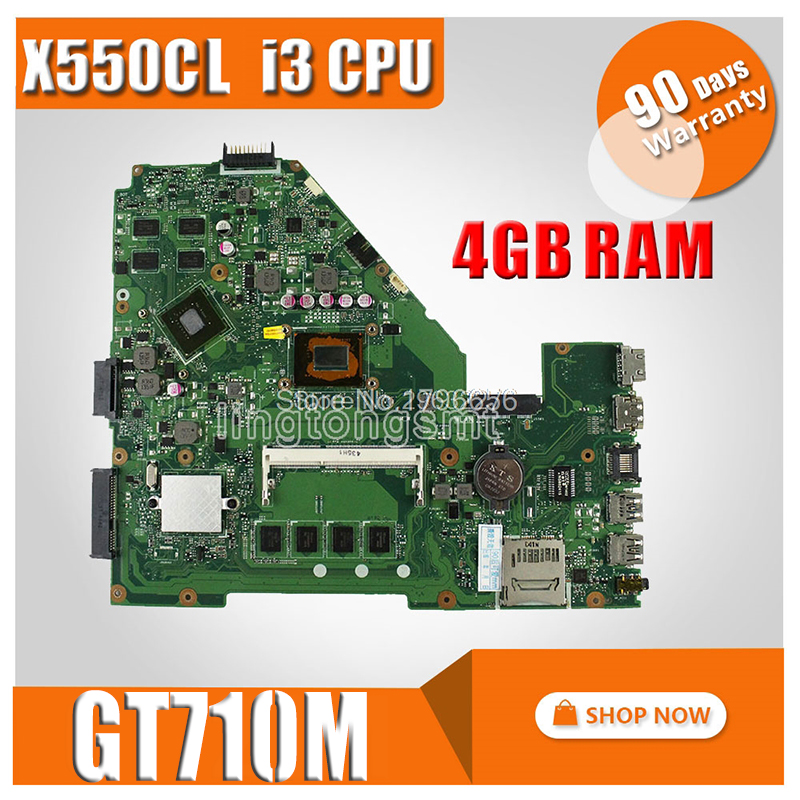 i3 CPU GT710M 4GB RAM X550CC Motherboard REV 2 0 For ASUS Y581C X552C X550C X550CL