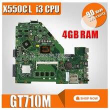 I3 Процессор GT710M 4 Гб Оперативная память X550CC материнских плат REV: 2,0 для ASUS Y581C X552C X550C X550CL A550C K550C Материнская плата ноутбука Mainboar