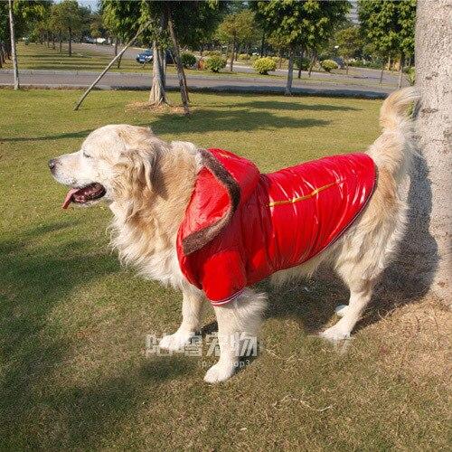 Large Big Dog Winter Clothes Golden Retriever Ski Coat Englands
