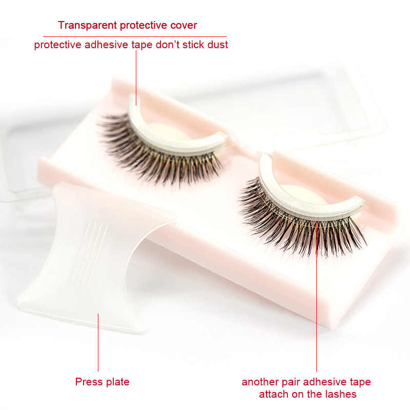 a5c2fad5961 ... Genailish 1 Pair 3D Mink False Eyelashes Elegant Makeup Self Adhesive  Fake Eye Lashes Long Natural ...