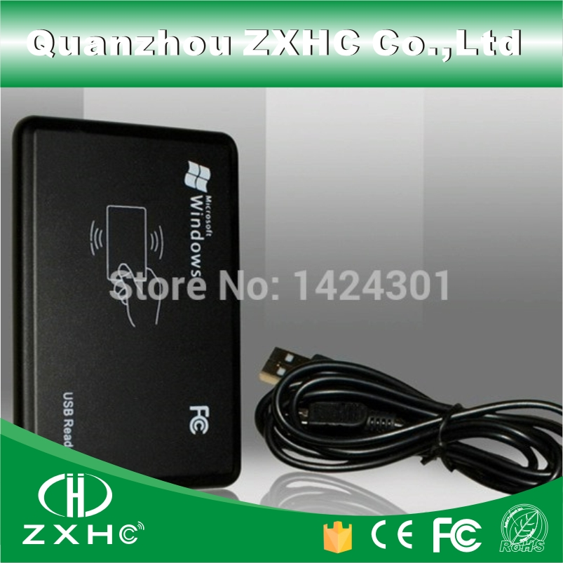 125KHz Mini USB RFID Proximity ID Card Reader For TK4100 EM4100 Key Tag 125khz rfid reader usb interface usb rfid id contactless proximity smart card reader tk4100 em4100