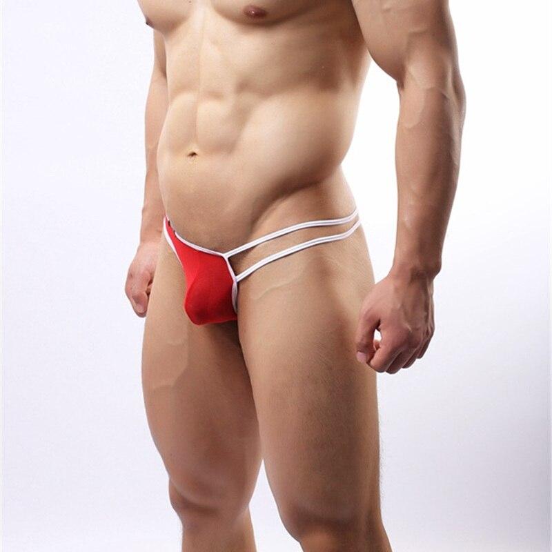 Men's Brand Underwear Mesh Sexy Thong Underwear Unilateral 3D Convex Crotch, High-quality Soft Fabrics Men's Panties