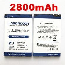 6e1356fddf9 100% Original LOSONCOER 2800 mAh BP-3L bateria de Alta qualidade para Nokia  Lumia 710 510 505 603 610C 900 303 603 610 3030 bate.