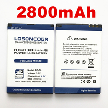 bc0913e8a07 100% Original LOSONCOER 2800mAh BP-3L High quality battery for Nokia Lumia  710 510