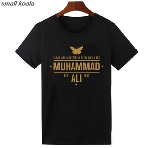 Muhammad Ali T-Shirt Float Like A Butterfly Sting Like A Bee 1942-2016 Tops Tee Shirts American Classics Boxer Basic T Shirt(China)