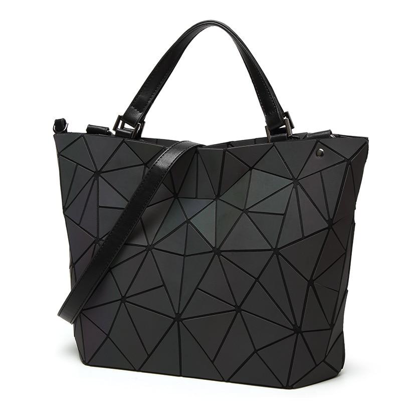2018 An Luminous Geometric Women S Handbags Bucket Shoulder Messenger Bags Folding Handbag Female Tote Sac In From Luggage On