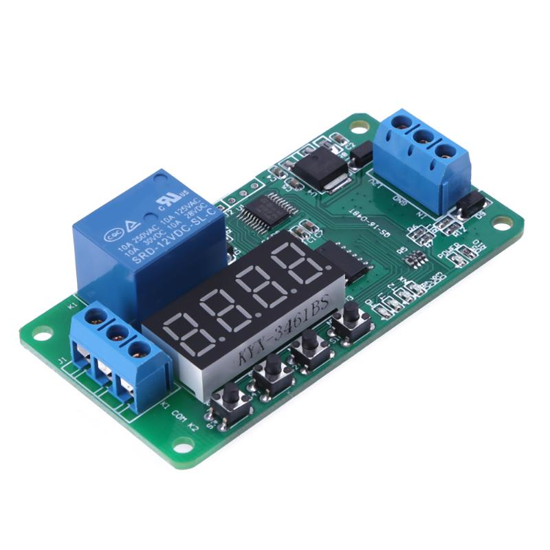 1PC DC12V Converter Multifunction Self-lock Relay PLC Cycle Timer Module Delay Time Switch Board for DC 12V LED lighting Motor 1pc multifunction self lock relay dc 5v plc cycle timer module delay time relay