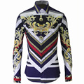 Luxury Mens Shirt Chemise Homme 2016 Unique Design Mens Slim Long Sleeve Cotton Shirts Brand Camisas Hombre Masculino