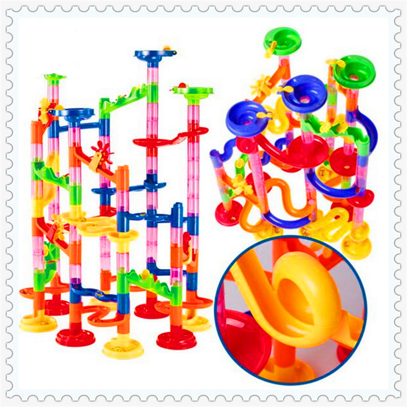Enlighten 678-7 105Pcs Marble Race Run Maze Balls Building Block Construction Figure Toys Gift For Children Compatible Legoe peaks run 105