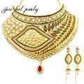 Diseño de la vendimia de Oro Collar de Perlas de La India Forma de Labios de Cristal y Pedrería Danza Étnica Mujeres Maxi Collares y Colgante