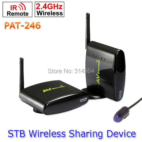 ФОТО 2.4GHz Smart Digital STB Wireless AV Sender TV Audio Video Transmitter Receiver with IR Signal Extension Cable Set PAT-246