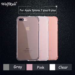WolfRule For Case iphone 8 Plus Original Cover Soft Transparent TPU Protective Funda For Apple iPhone 7 Plus Anti knock Cases 1