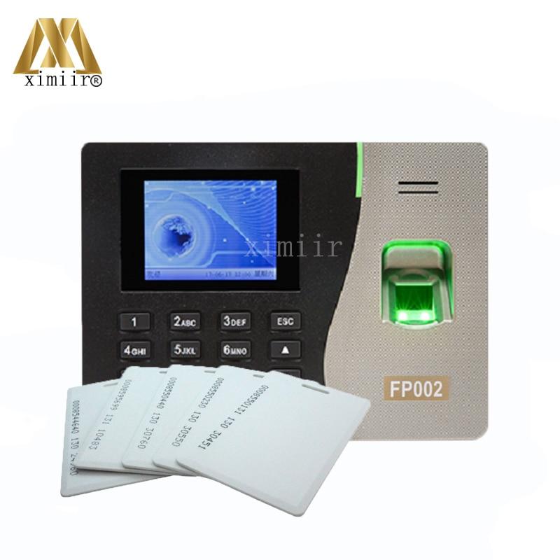 FP002 TCP/IP Biometric Fingerprint Time Attendance With 125KHZ RFID Card Reader ZK Fingerprint Time Clock Fingerprint Reader k14 zk biometric fingerprint and rfid card time attendance tcp ip linux system time clock time recorder spanish language support