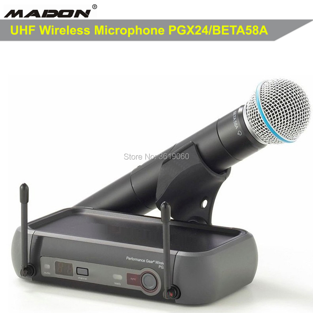 Free Shipping , HOT SALES PGX24/BETA58A PROFESSIONAL WIRELESS MICROPHONE SYSTEM , PERFORMANCE GEAR WIRELESS MICROPHONE