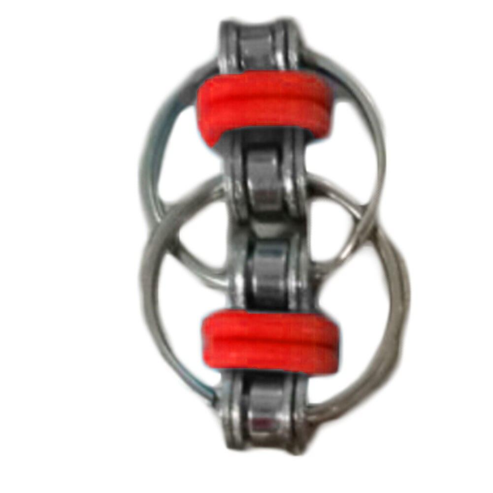 Новейшие Брелок Ручной Непоседа Spinner Декомпрессии Игрушки Из Нержавеющей Стали Велосипед Цепи Пряжки Брелок Палец Гироскопа 6 Цвет спинер
