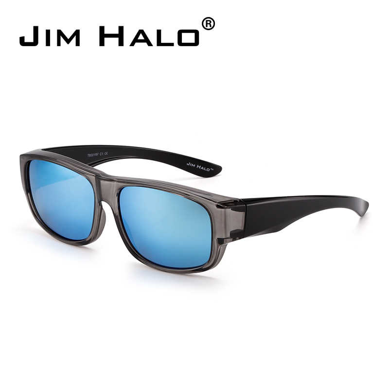 44ac48a6039 Jim Halo Polarized Fit Over Sunglasses Mirrored Oversize Wear Over Glasses  Men Women