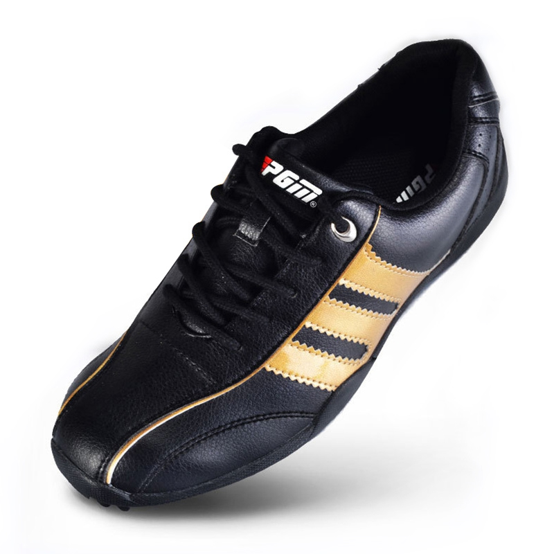 Мужская обувь для гольфа PGM Golf Мужская Спортивная обувь летние Нескользящие мужские непромокаемые кожаные кроссовки обувь для гольфа для м...