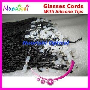 Image 3 - 추천 100 pcs 고품질 흰색 실리콘 팁 검은 안경 선 글래스 안경 폴리 에스터 문자열 코드 끈 l709