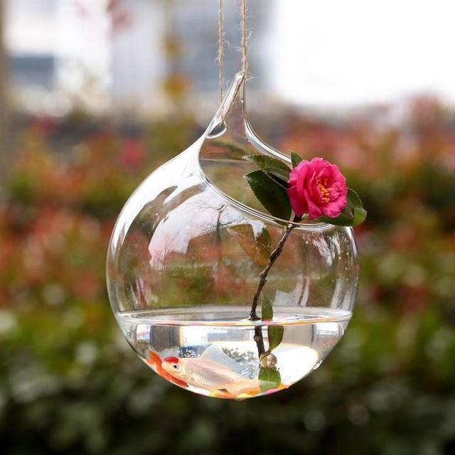 Hanging Glass Vase Hanging Terrarium Glass Vase Hydroponic Flower Indoor Office Home Garden Decor Jardin Ornament Drop shipping 5