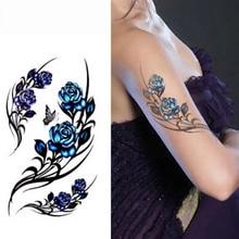 3D Sex Henna Tattoo Paste Rose Temporary Tattoo Stickers Waterproof Elegant Body Art Sticker Beauty Tattoo Sleeve