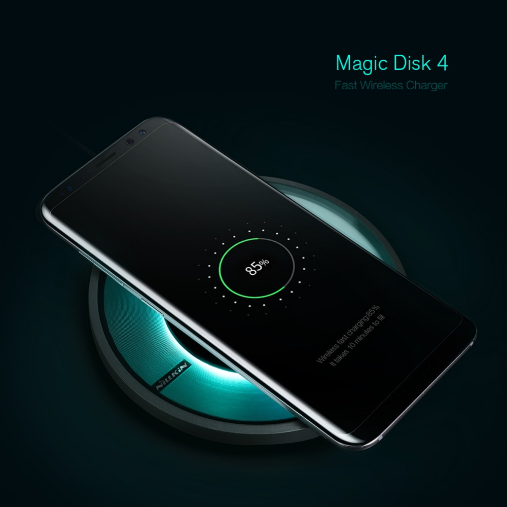 Nillkin Magic Disk 4 fast charger for samsung s8 s8 Plus Qi Fast Wireless Charging Pad for Galaxy S7 Edge/Note 8 wireless charge