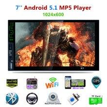 """Dual-core android 4.4 Tela de Toque Do Carro Do Bluetooth Receptor de Áudio E Vídeo Player 7""""1080P Media Carro Jogador MP5 Rádio FM + função GPS"""