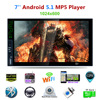Dual-core android 4.4 Bluetooth Car Touch Screen Audio Video Receiver Player 7''1080P Car Media MP5 Player FM Radio+GPS function