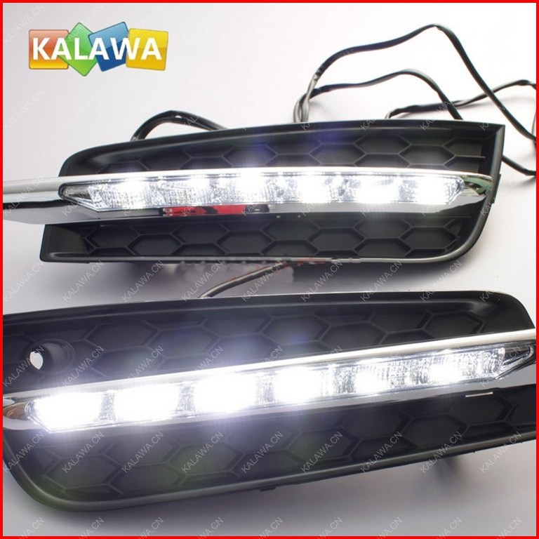 6 LED Daytime Running Lights Front Fog Lamp DRL Turning light fit for  Cruze GGG for opel astra h gtc 2005 15 h11 wiring harness sockets wire connector switch 2 fog lights drl front bumper 5d lens led lamp
