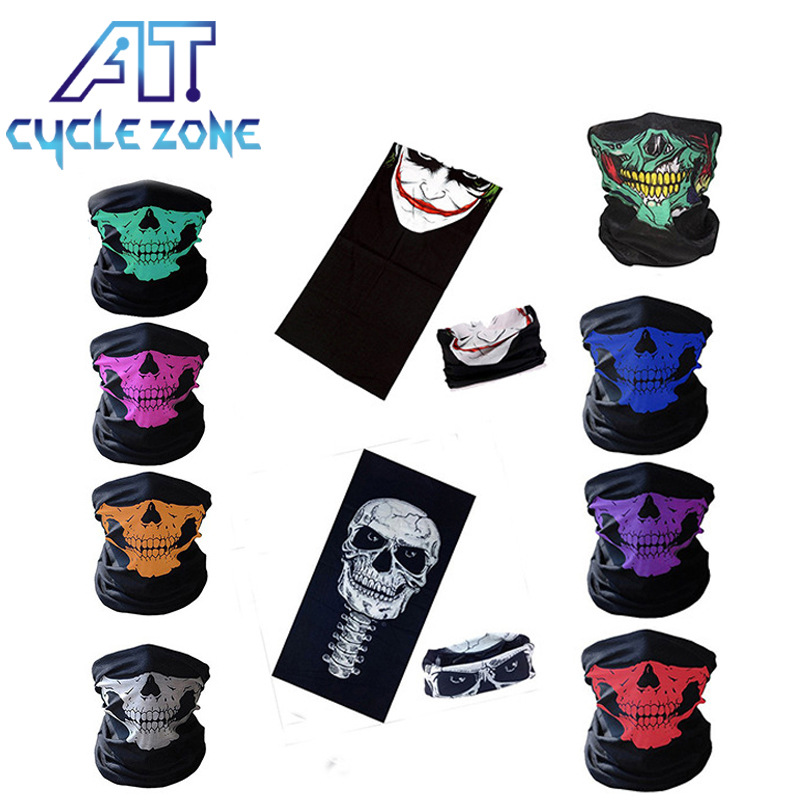 Multifunction Head Scarf Bike Bicycle Riding Face Mask  Women Men Cycling Face Mask Outdoor Riding Bandana Ghost