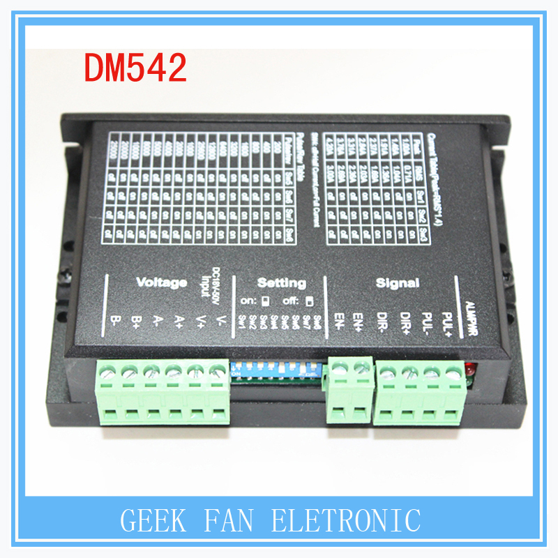 ФОТО Low price   Stepper Driver DM542 work 24-50V output 1-4.2A current work with NEMA 23 and NEMA 17 stepper motor X101