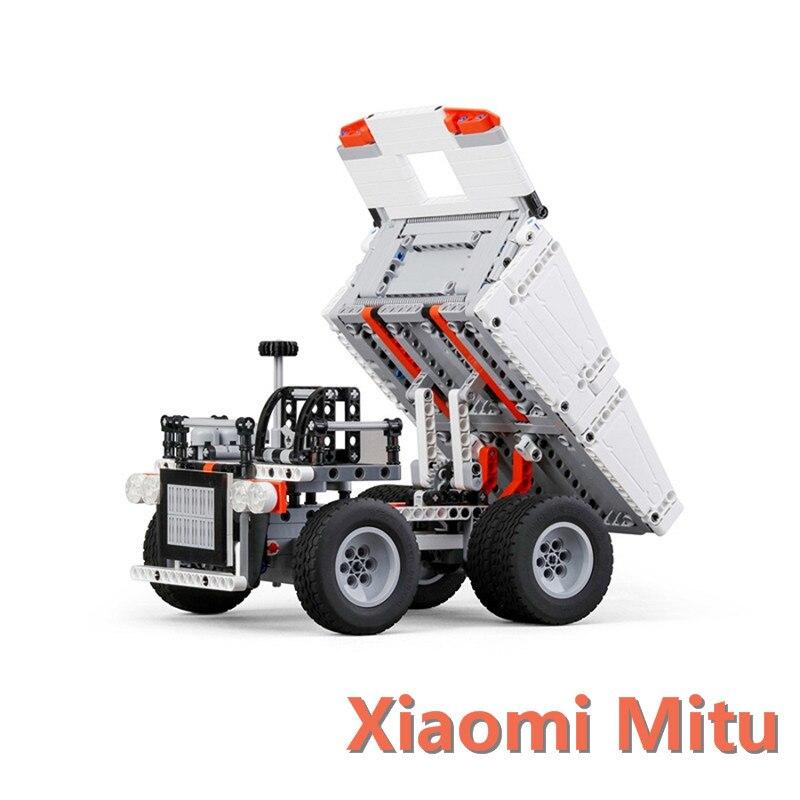 Xiaomi Mitu Building Blocks Toys Mining Truck Educational Kids Toys Models Steering Wheel Control System For Kid Gift Present цены онлайн