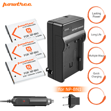 3PC 1200mAh NP-BN1 NPBN1 BN1 Battery+Battery Charger+Car for SONY DSC TX9 T99 WX5 TX7 W390 W380 W350 W360 QX100 W370 W730 L20