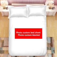 DIY custom bed sheet creative personality photo The blanke wedding celebration bedding cover bed sheet birthday gift 2019