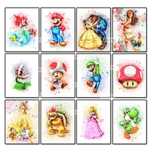 Ruxing Diamond Embroidery 5D DIY Painting Girl Cross Stitch Full Rhinestone Mosaic Needlework
