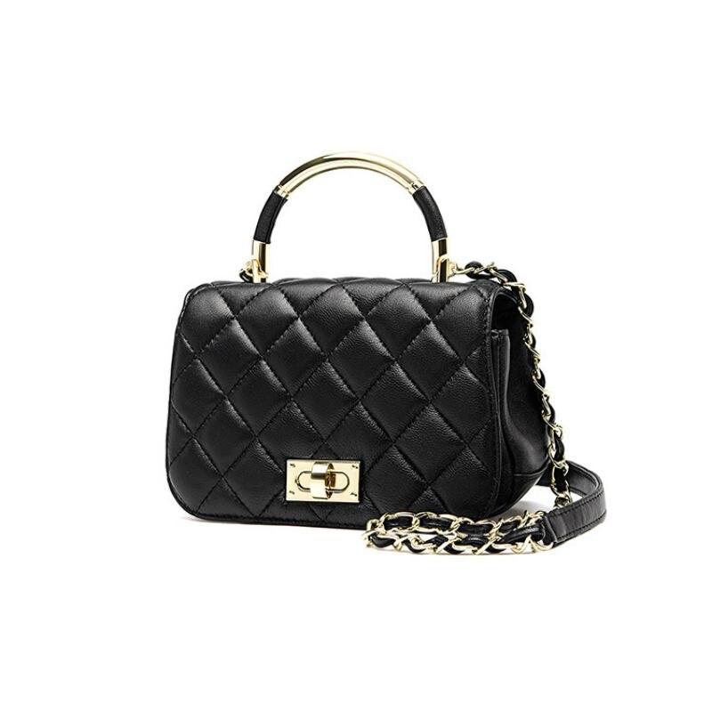 LOEIL Leather handbag 2018 new high quality ladies sheepskin bag classic shoulder bag Messenger bag rhombic chain bag недорго, оригинальная цена
