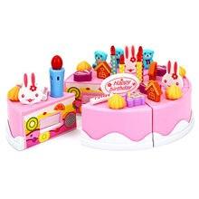 40pcs Pretend Kitchen Toys Cutting Birthday Cake Kids Toy Children Educational Cut Food Kits  YJS Dropship